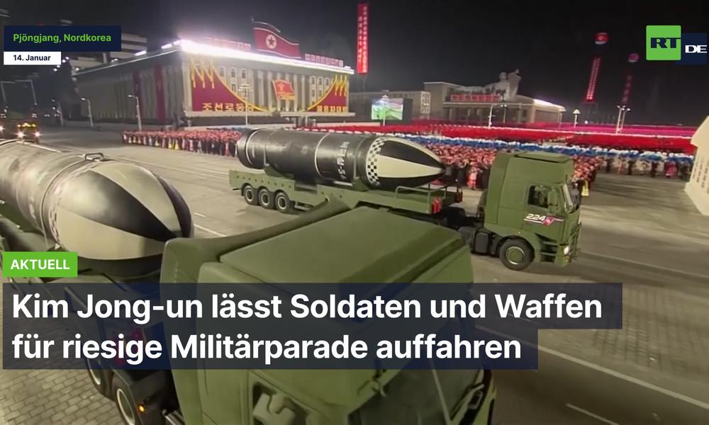 Kim Jong-un lässt Soldaten und Waffen für riesige Militärparade auffahren