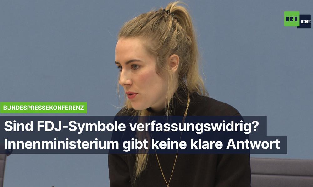 Sind FDJ-Symbole in Deutschland verboten? Innenministerium drückt sich um klare Antwort