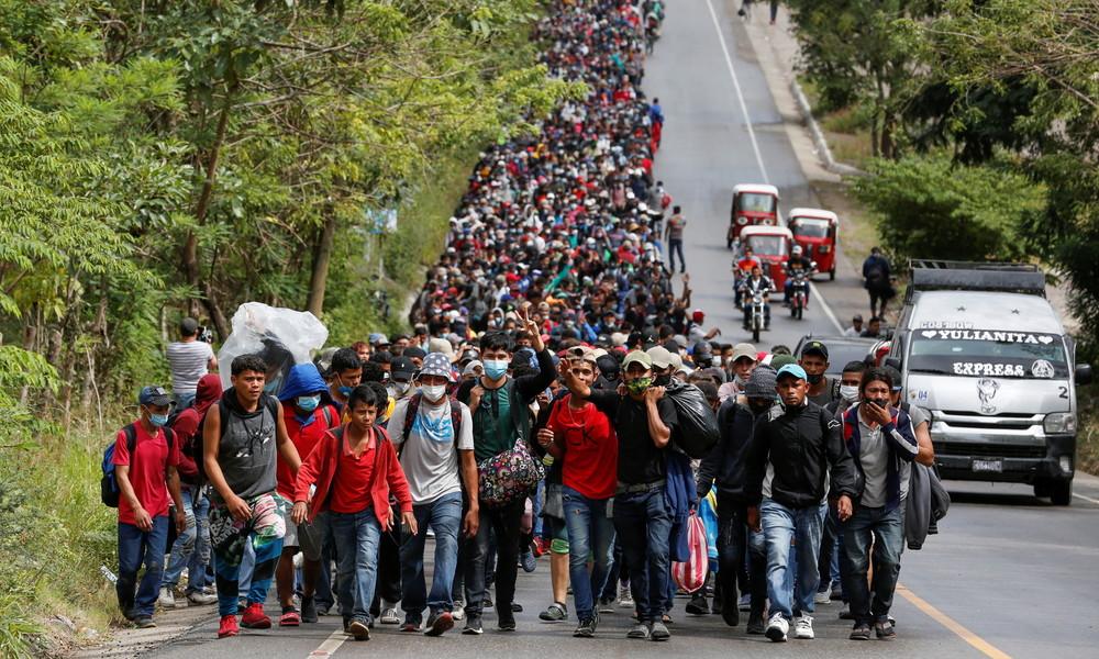 """Neue """"Migrantenkarawane"""" aus Honduras zieht in Richtung USA: Besorgnis in Guatemala und Mexiko"""