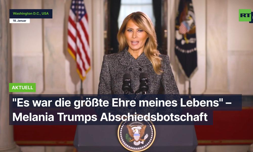 """USA: """"Es war die größte Ehre meines Lebens"""" – Melania Trumps Abschiedsbotschaft"""