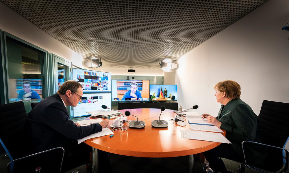 LIVE: PK der Bundeskanzlerin Merkel zu Corona-Situation nach dem Treffen mit den Länderchefs