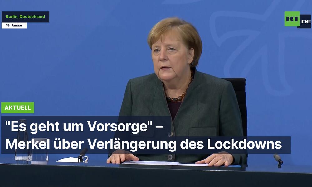 """Berlin: """"Es geht um Vorsorge"""" – Merkel über Verlängerung des Lockdowns"""