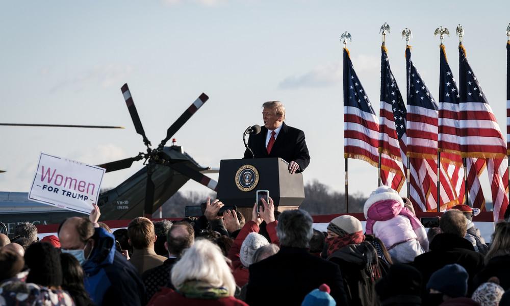 """""""Wir werden in irgendeiner Form zurückkehren"""": Donald Trump verabschiedet sich aus Präsidentenamt"""