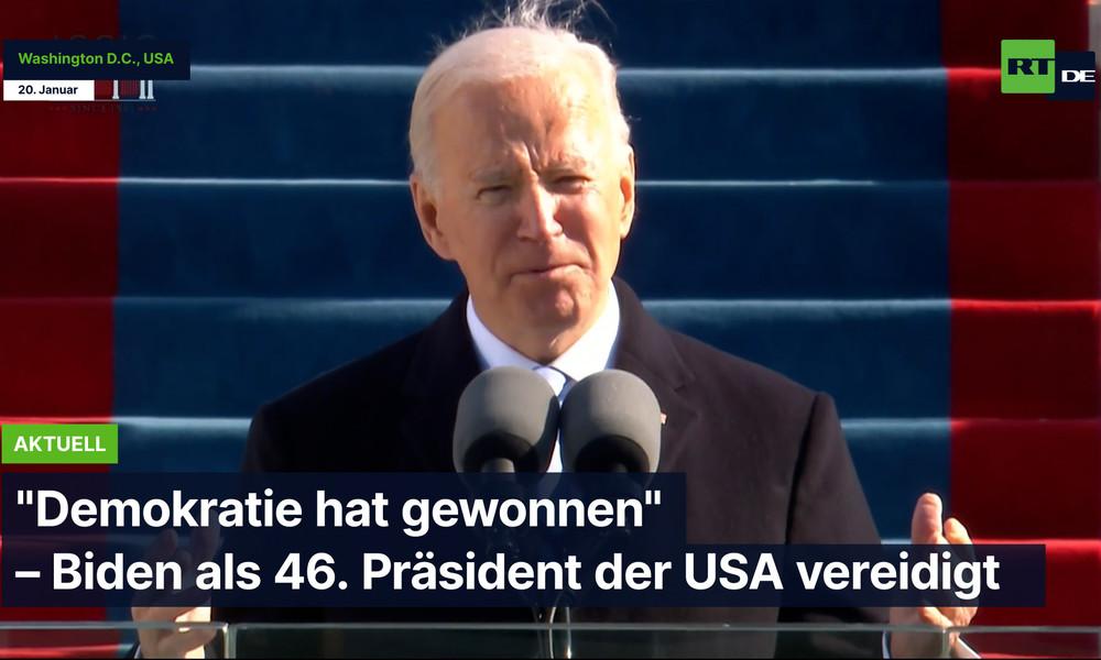 """""""Demokratie hat gewonnen"""" – Biden als 46. Präsident der USA vereidigt"""