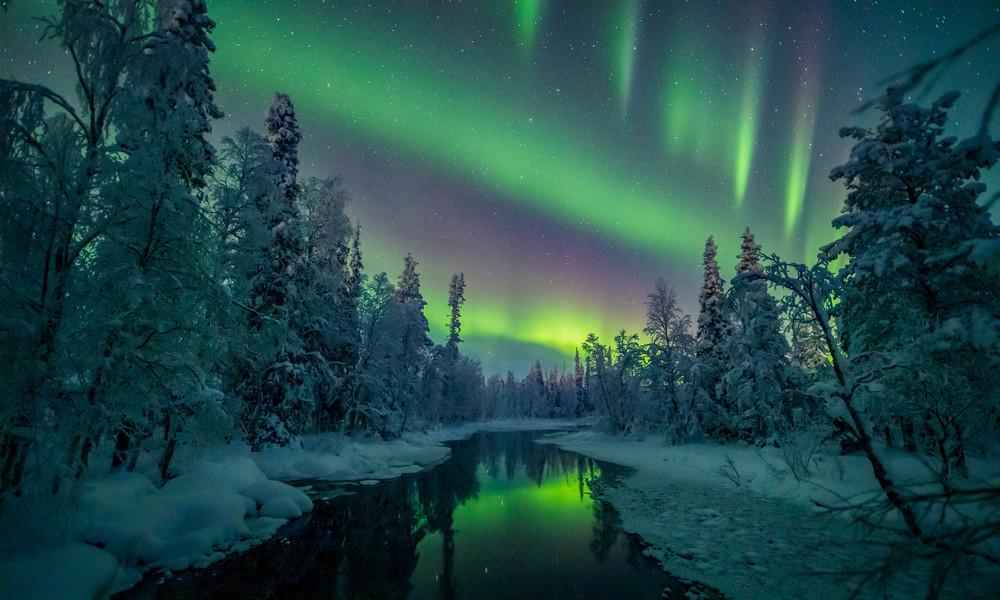 Aurora Borealis (Polarlicht) in Lappland