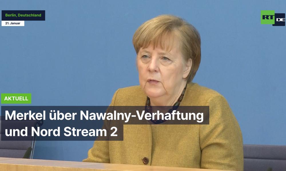 """""""Da wird es auch unterschiedliche Meinungen geben"""" – Merkel über Nawalny-Verhaftung und NordStream2"""