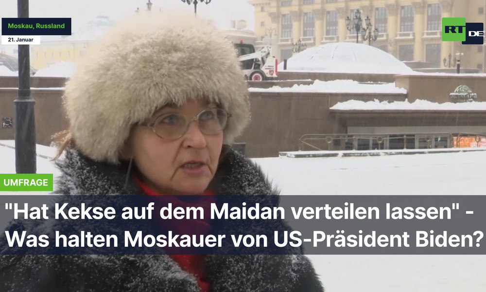 """Moskauer über Biden: """"Hat Kekse auf dem Maidan verteilen lassen"""""""