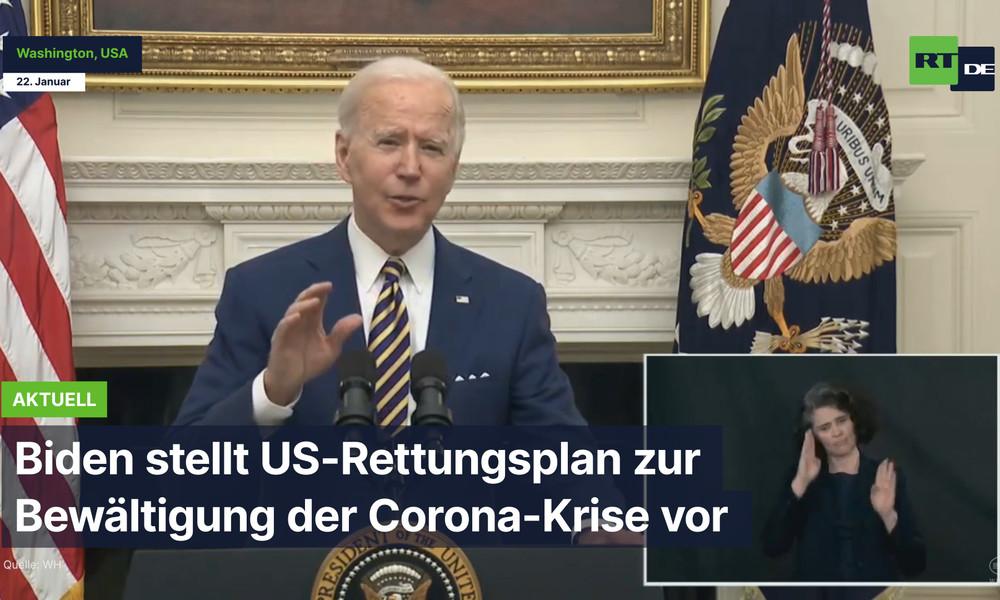 USA: Biden stellt den US-Rettungsplan zur Bewältigung der Corona-Krise vor