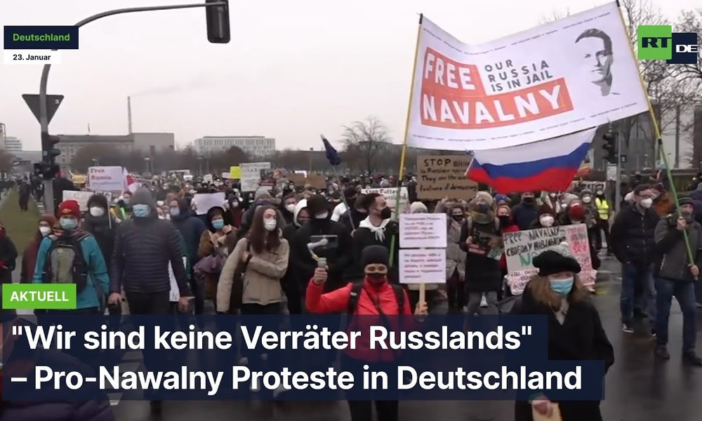 """""""Wir sind keine Verräter Russlands"""" – Pro-Nawalny Protest in Deutschland"""