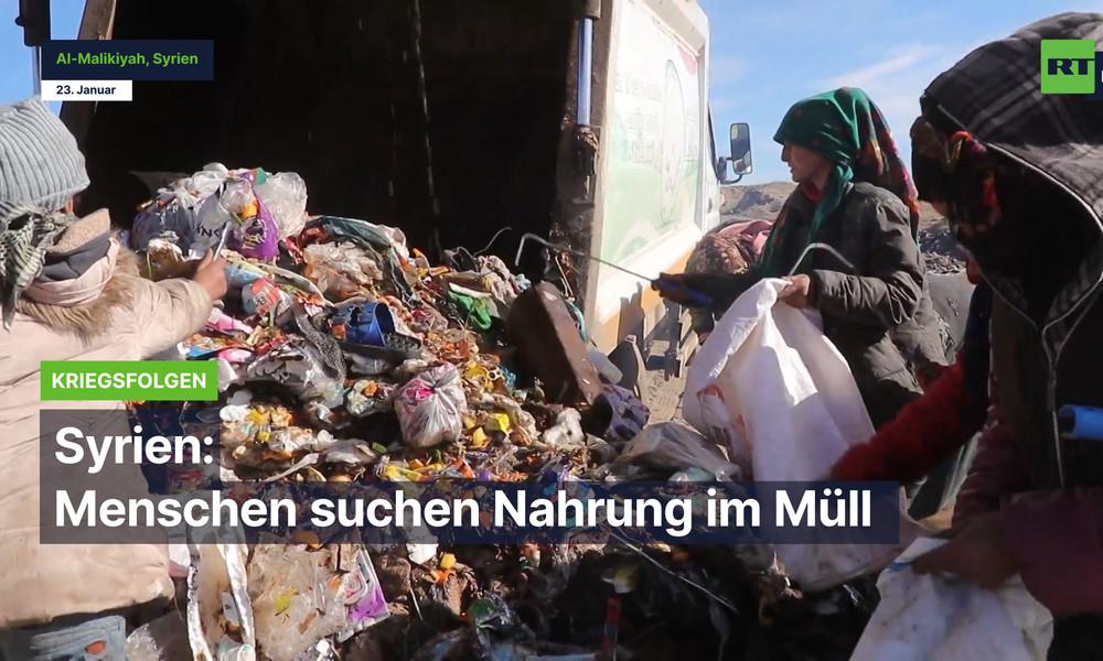 Krieg und Sanktionen: Syrer müssen ihre Nahrung im Müll suchen