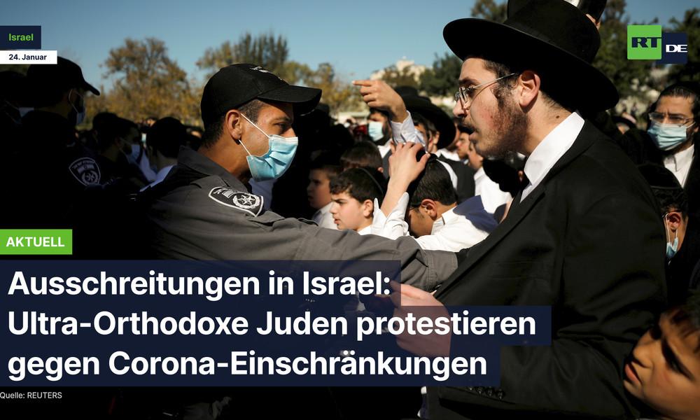 Ausschreitungen in Israel: Ultra-Orthodoxe Juden protestieren gegen Corona-Einschränkungen