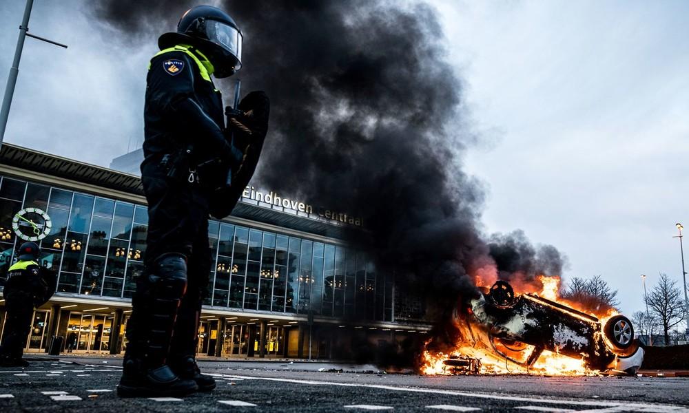 Wegen Lockdown: Dritte Nacht der Unruhen in den Niederlanden