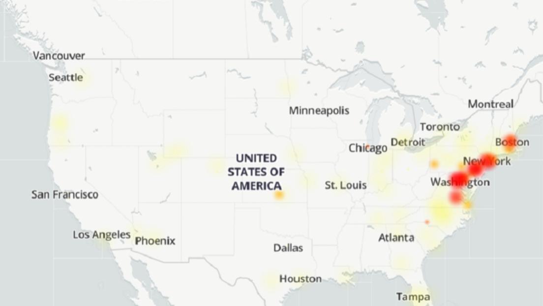 Massive Internetausfälle an der Nordostküste der USA: Von Boston über New York bis Washington