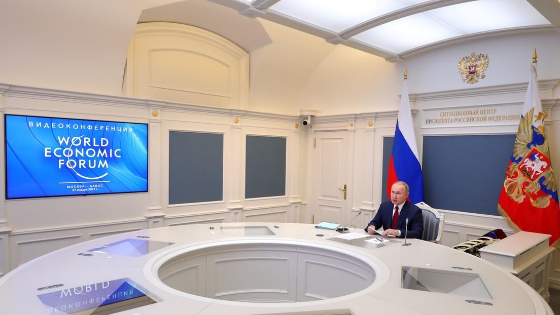 Weltwirtschaftsforum in Davos: Wladimir Putin nennt Armutsbekämpfung als wichtigste Aufgabe
