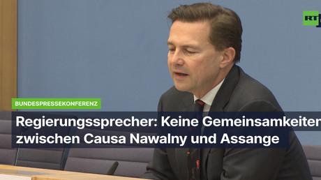 Bundesregierung: Keine Gemeinsamkeiten zwischen Causa Nawalny und Assange