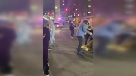 USA: Polizeiauto überrollt Teilnehmer eines illegalen Straßenrennens