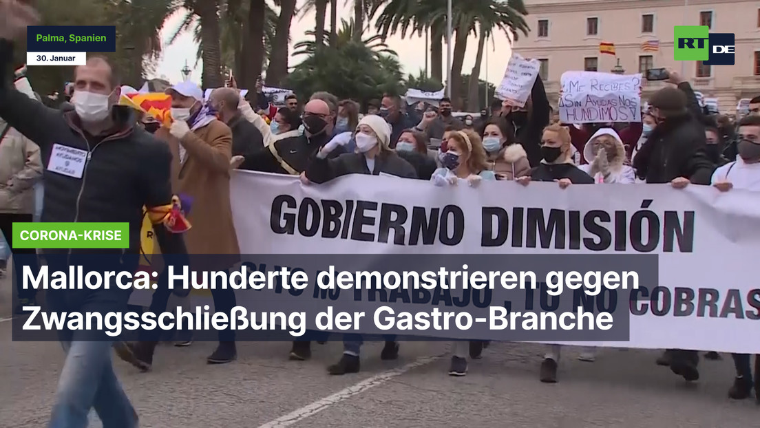 Mallorca: Hunderte demonstrieren gegen Zwangschließung der Gastro-Branche