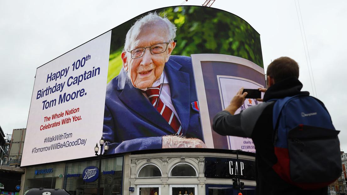 100-jähriger britischer Rekordspendensammler nach positivem COVID-19-Test im Krankenhaus