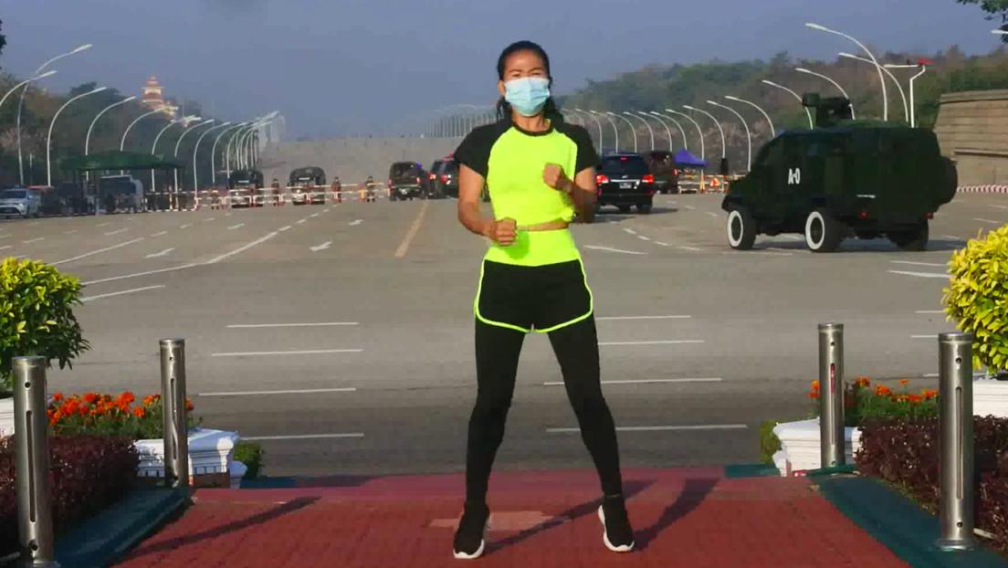 Militärputsch in Myanmar: Aerobic-Video auf Facebook geht viral
