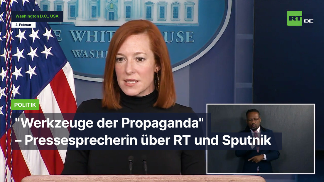 """Pressesprecherin von Joe Biden über RT und Sputnik: """"Werkzeuge der Propaganda"""""""