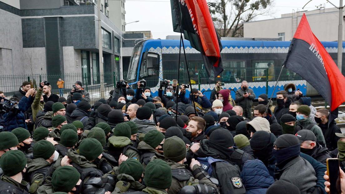 Ukraine: Rechtsradikale stürmen Büro des oppositionellen Fernsehsenders