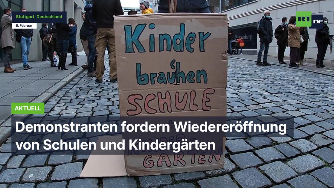 """""""Wir leben in der Überdosierung dieser gewollten Angst"""" - Protest in Stuttgart"""