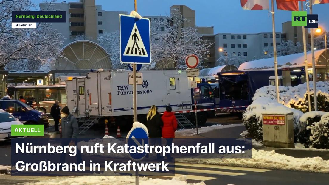 Nürnberg ruft Katastrophenfall aus: Großbrand in Kraftwerk