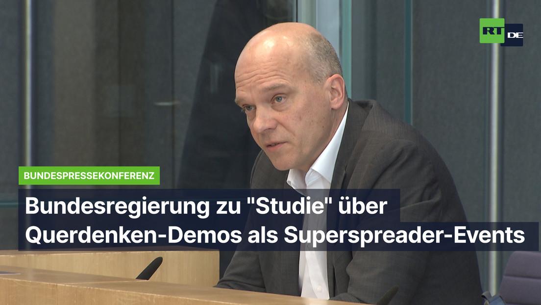 """Bundesregierung zu """"Studie"""" über Querdenken-Demos als angebliche Superspreader-Events: Keine Wertung"""
