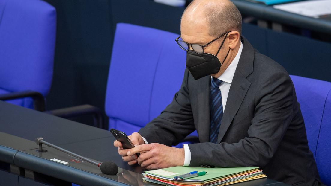 Finanzminister Scholz wegen Nord Stream 2 in den Bundestag zitiert