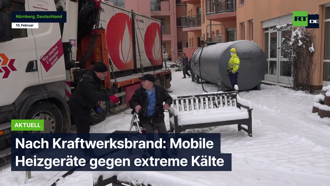 Nach Kraftwerksbrand in Nürnberg: Mobile Heizgeräte gegen extreme Kälte