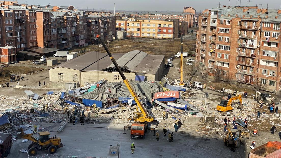 Explosion im Nordkaukasus – Einkaufszentrum komplett zerstört