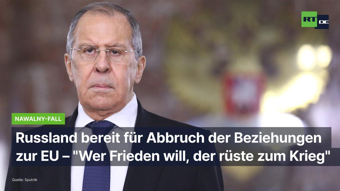 """Lawrow warnt EU vor neuen Sanktionen: """"Sind bereit, die Beziehungen abzubrechen"""""""