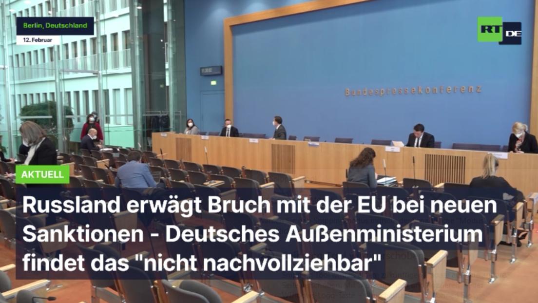 """""""Nicht nachvollziehbar"""" - Bundesregierung zu Lawrows Drohung bezüglich Bruch mit EU"""