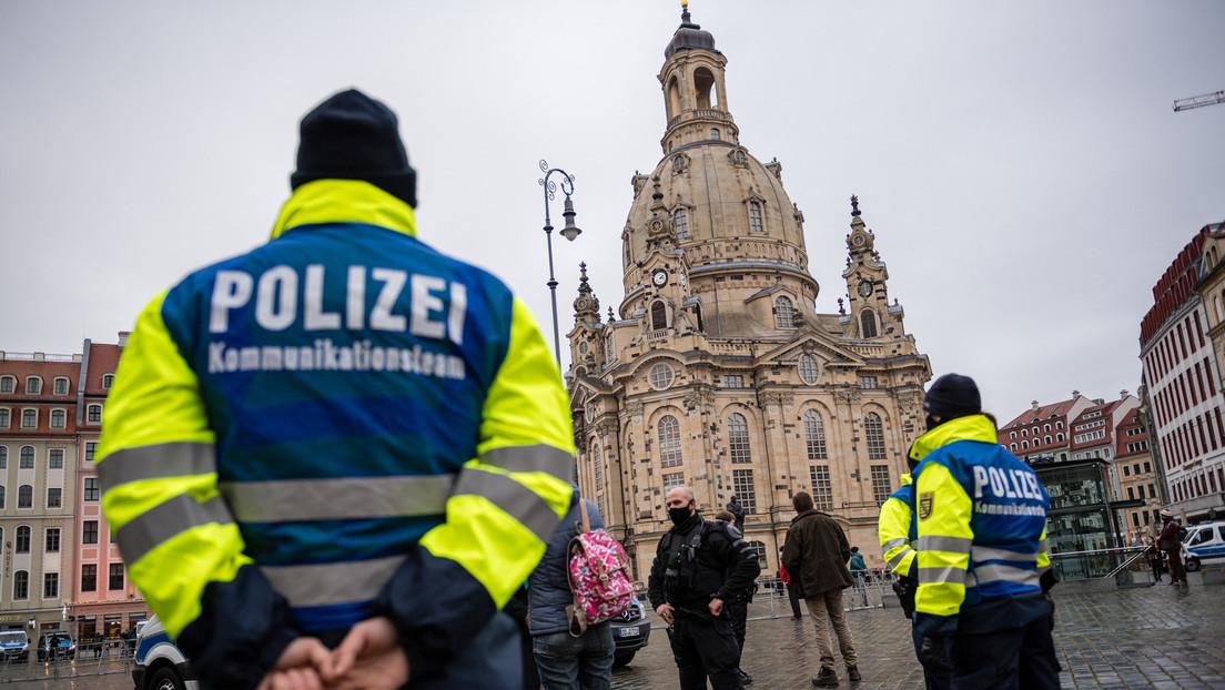 Mann zündet sich in der Nähe des Sächsischen Landtags in Dresden an