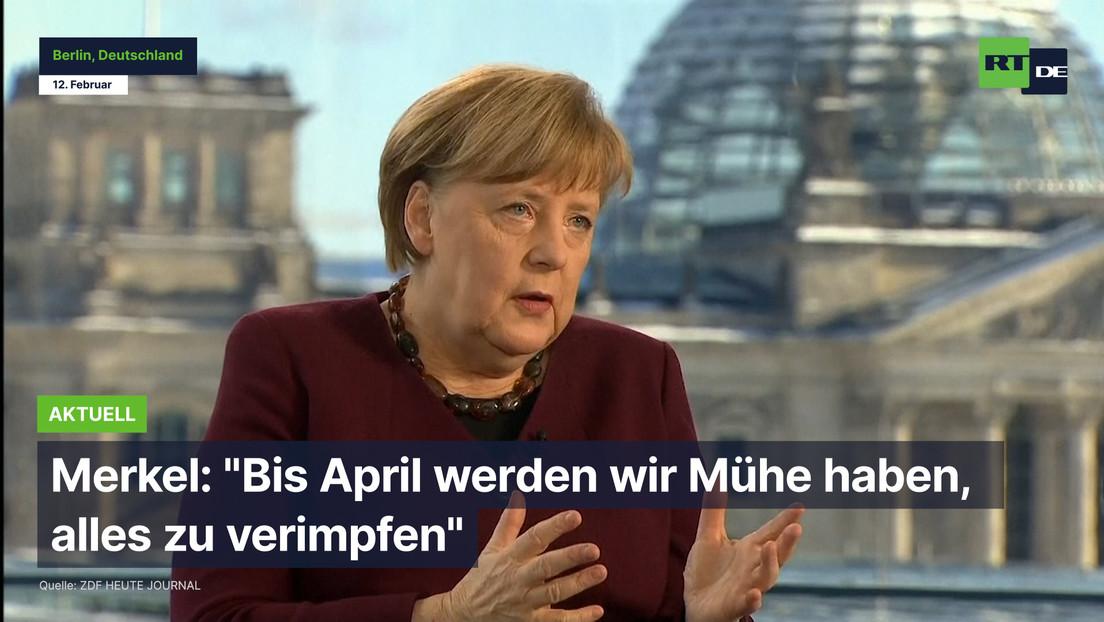 """Merkel: """"Bis April werden wir Mühe haben, alles zu verimpfen"""""""