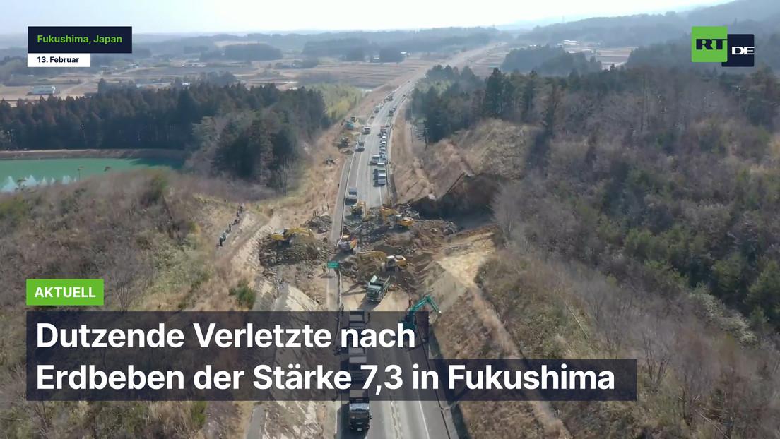Dutzende Verletzte nach Erdbeben der Stärke 7,3 in Fukushima