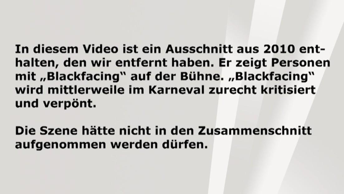 Nach Rassismus-Vorwürfen: WDR blendet Hinweistafel bei Karnevalsshow ein