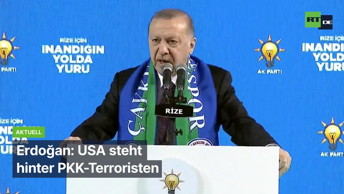 Erdoğan: USA steht hinter PKK-Terroristen