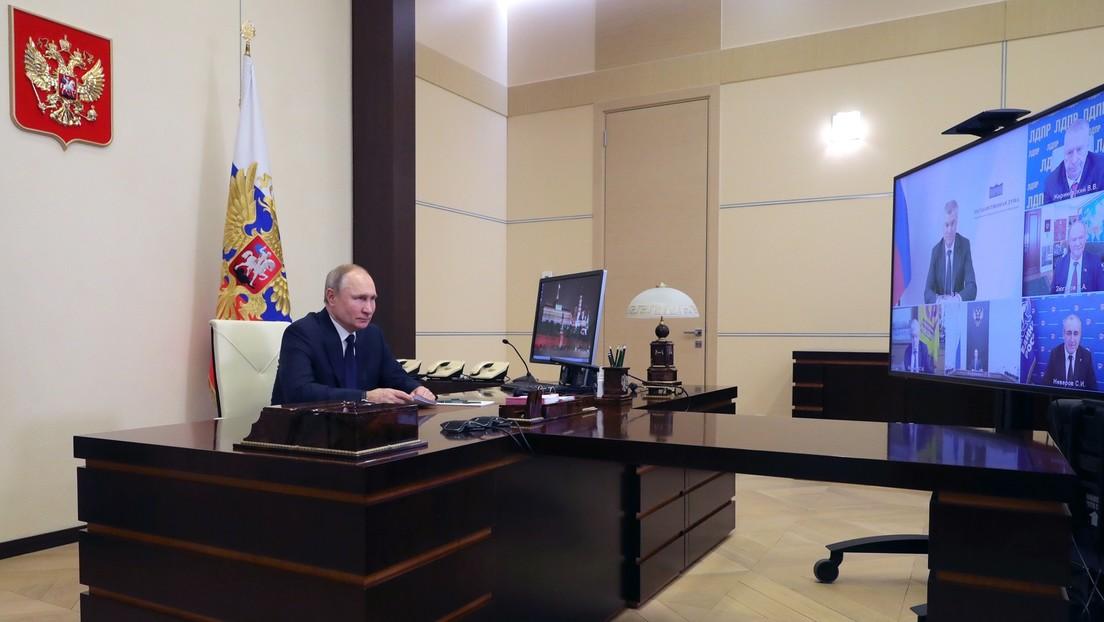 Putin: Schließung von TV-Sendern in der Ukraine ein Zeichen von Doppelmoral