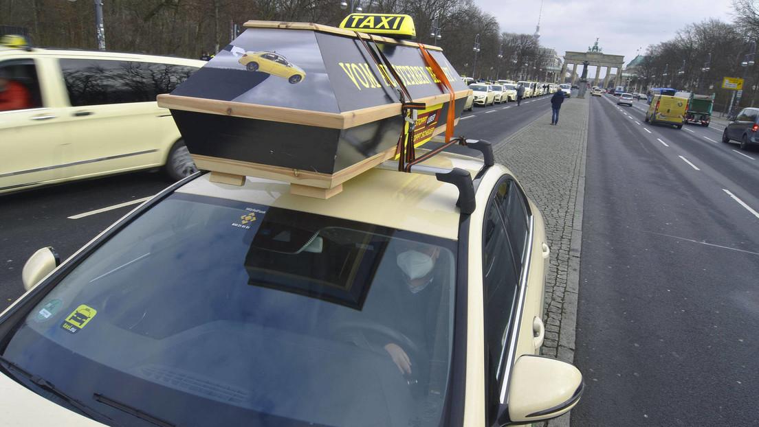Schleichender Tod des Gewerbes – Taxifahrer protestieren erneut in Berlin gegen Freibrief für Uber