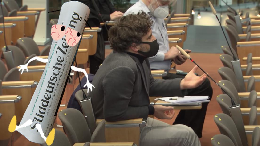 Wie die Süddeutsche Zeitung einem Mitarbeiter von RT DE den Schauprozess macht