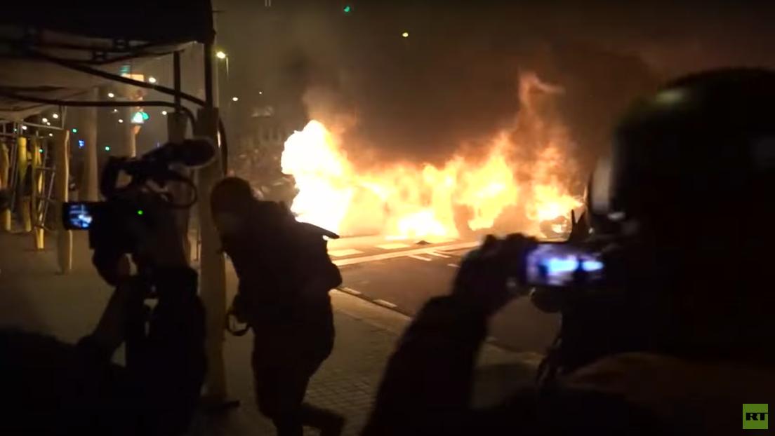 LIVE aus Barcelona: Protest gegen Inhaftierung von Pablo Hasél – Vierte Nacht in Folge