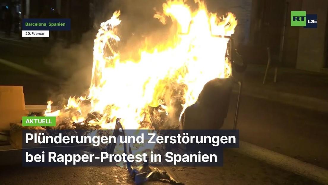Barcelona: Plünderungen und Zerstörungen bei Protest gegen Inhaftierung des Rappers Pablo Hasél