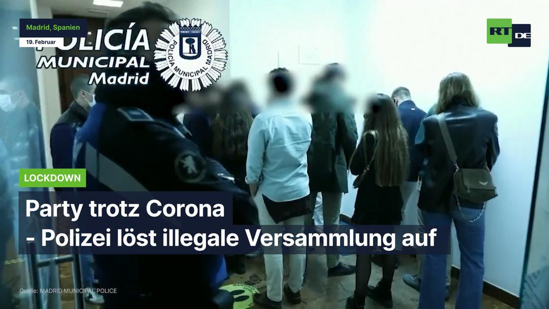 Madrid: Party trotz Corona – Polizei löst illegale Versammlung auf