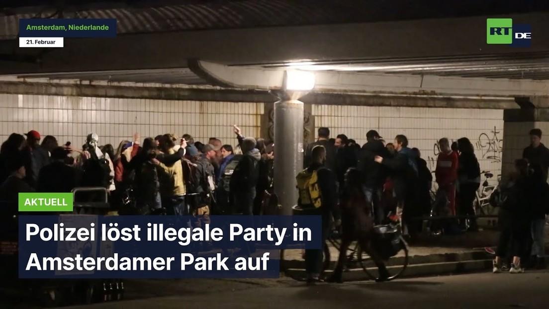 Niederlande: Polizei löst große Party in Amsterdamer Park auf