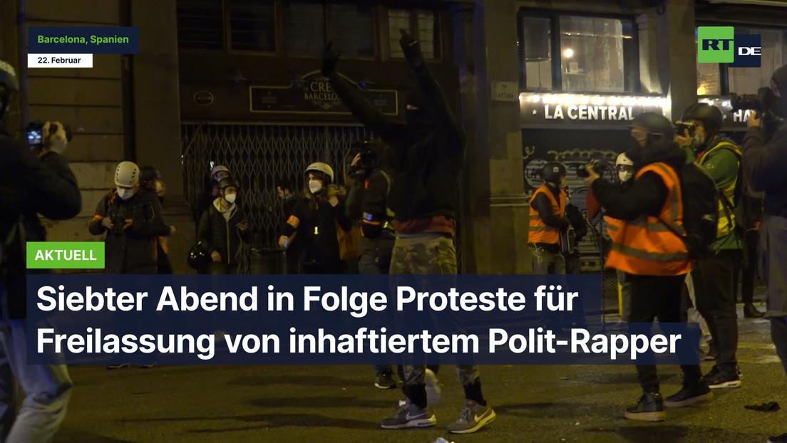 Siebter Abend in Folge Proteste für Freilassung von inhaftiertem Polit-Rapper