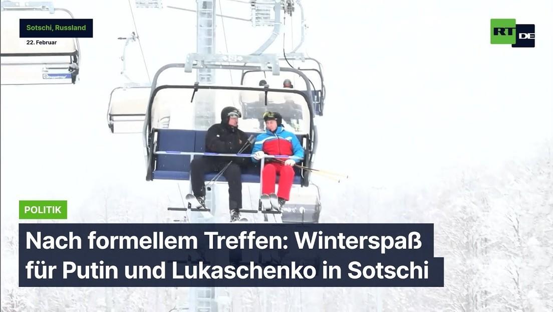 Nach formellem Treffen: Winterspaß für Putin und Lukaschenko in Sotschi