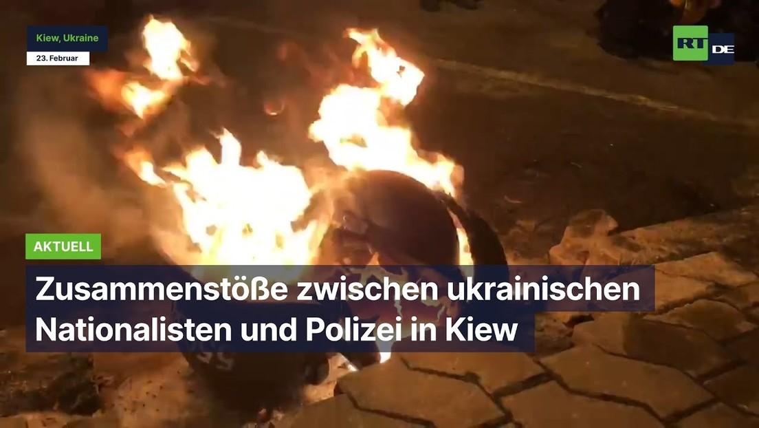 Zusammenstöße zwischen ukrainischen Nationalisten und Polizei in Kiew