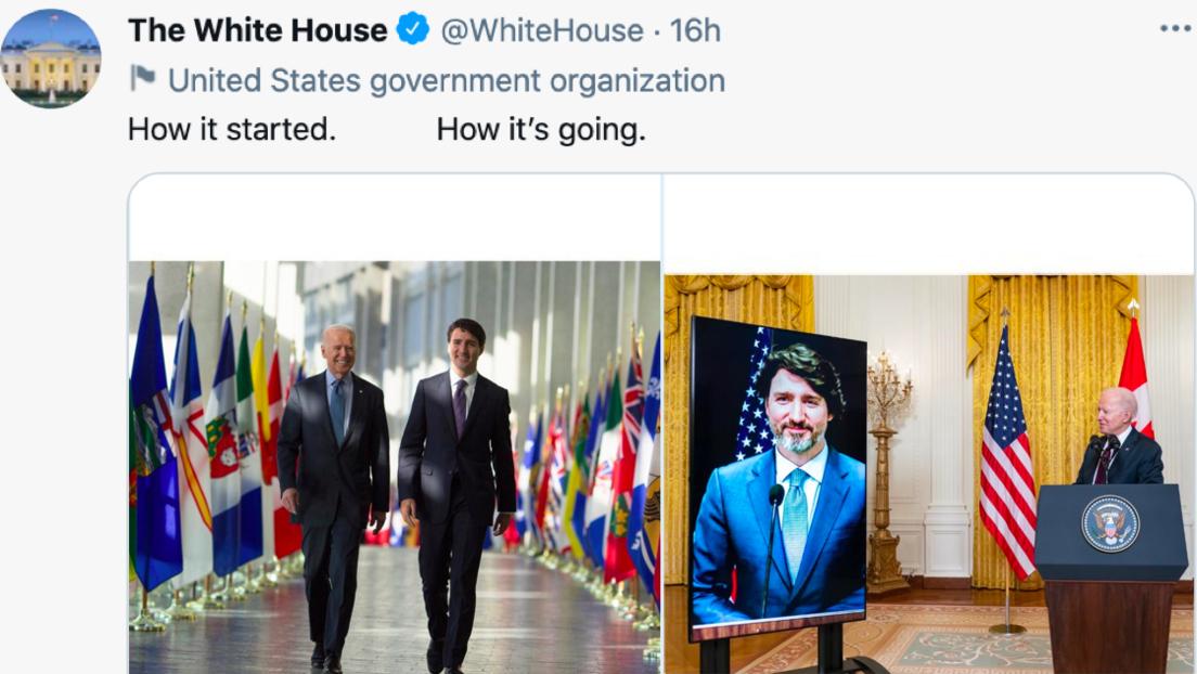 """""""How it started – how it's going"""": Tweet mit Biden und Trudeau ruft Unverständnis hervor"""
