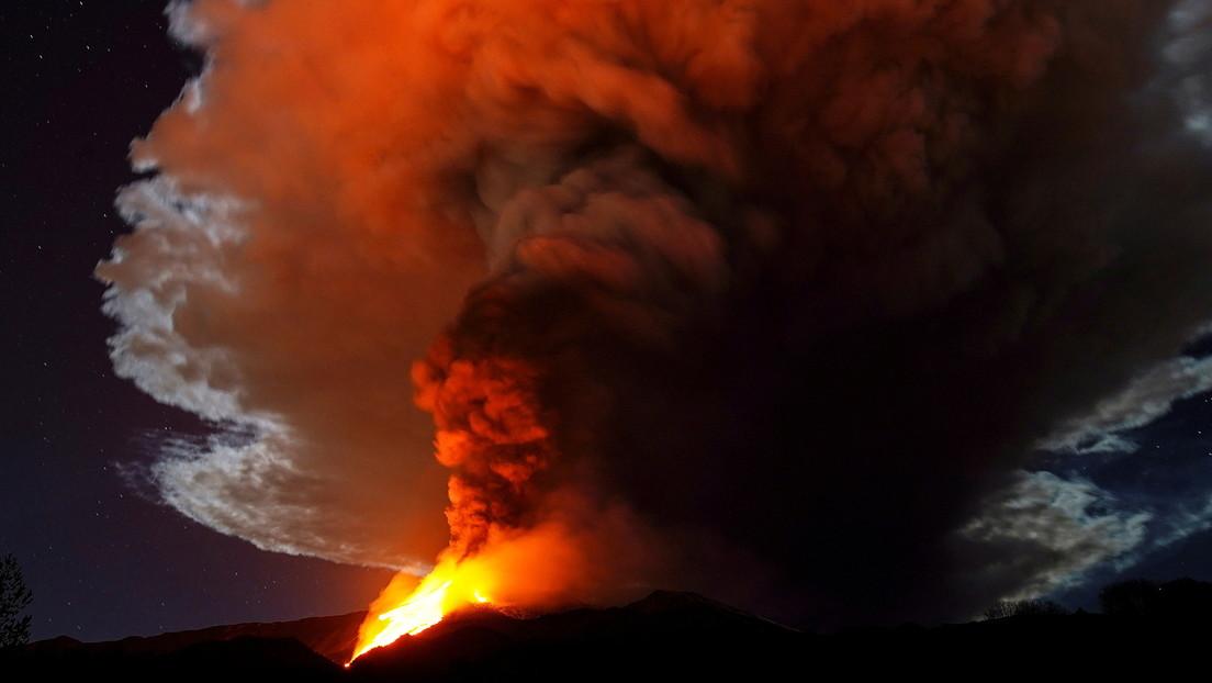 Spektakulärer Vulkanausbruch des Ätna